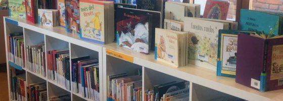 Fotografía estantería libros Biblioteca