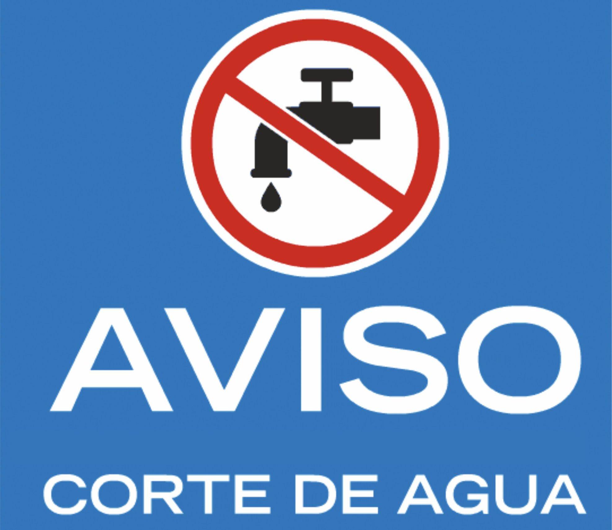 logo aviso corte de agua
